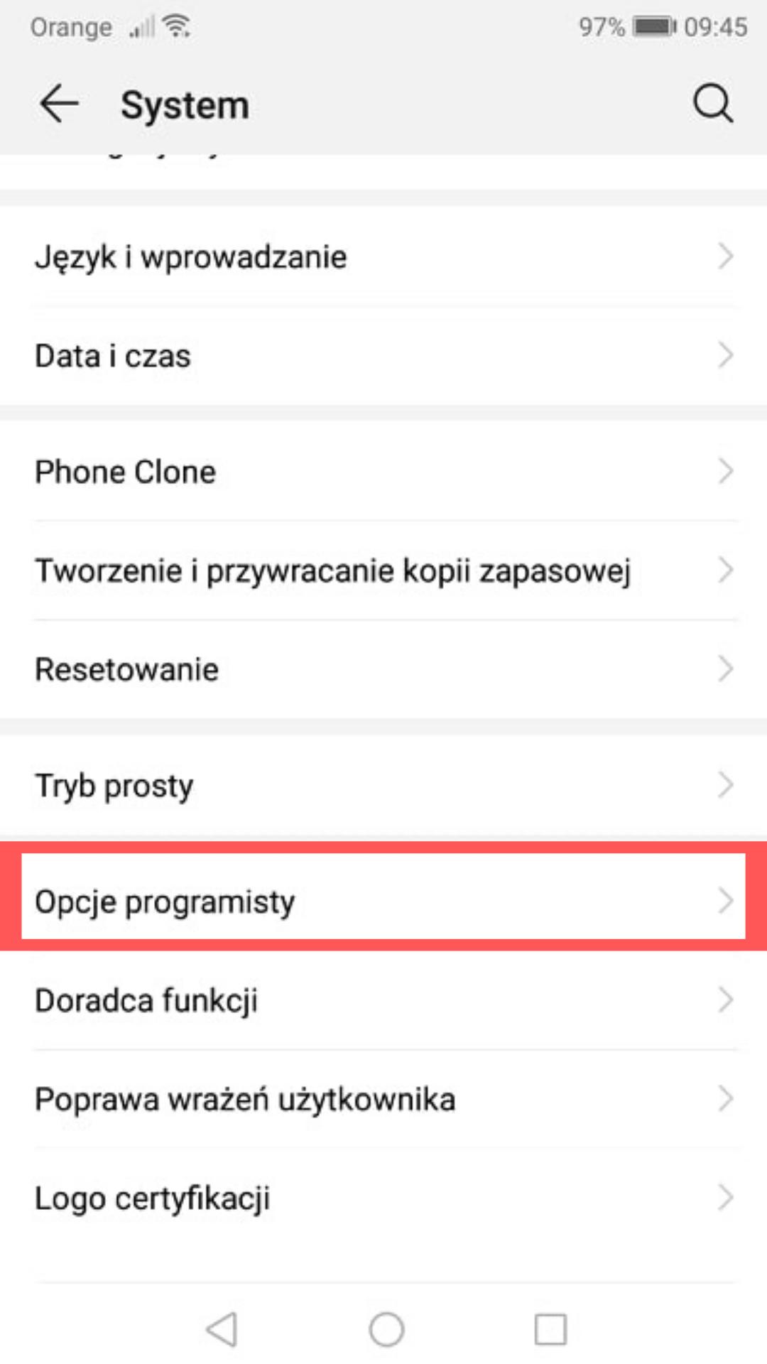 kroki dla uzytkownikow android